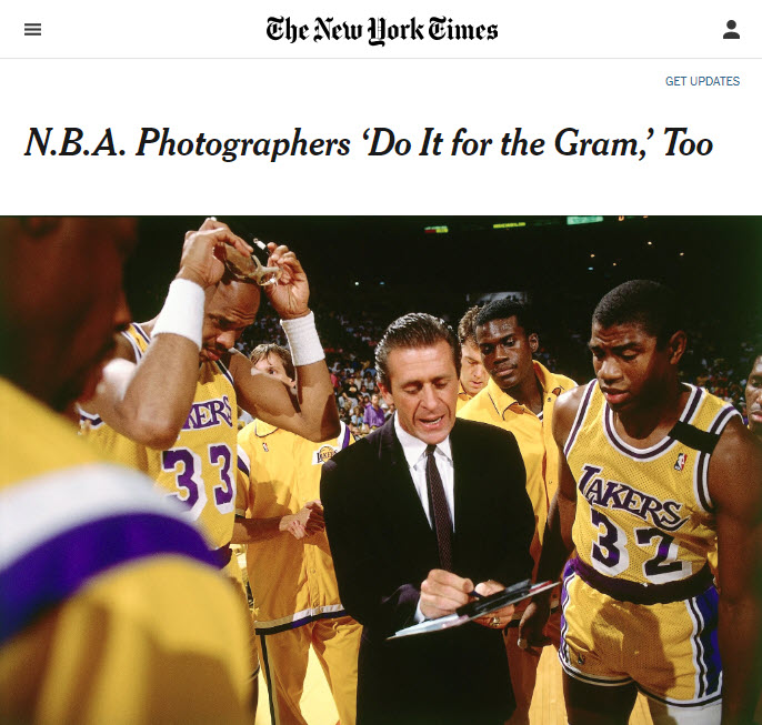 Screenshot of article posted at The New York Times