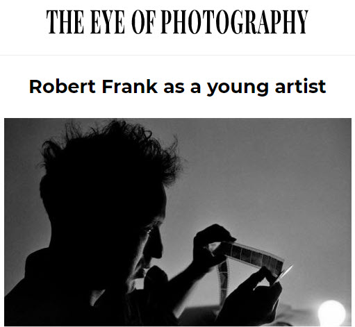 Screenshot of article posted in The Eye Of Photography