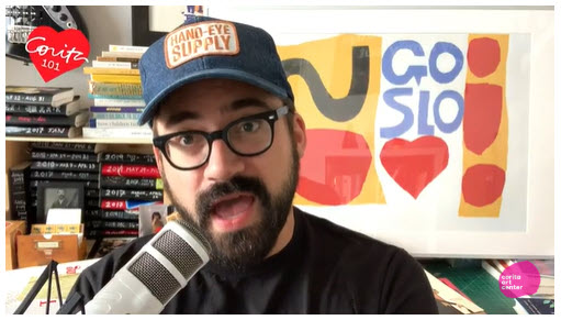 Screenshot of video posted on Austin Kleon