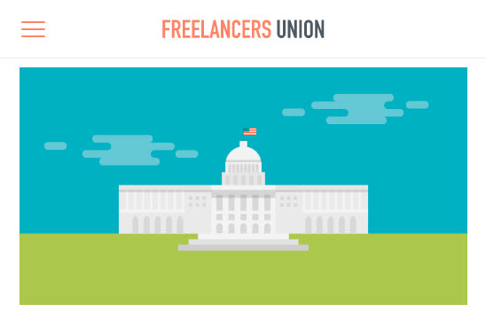 Screenshot of article on the CARES Act posted on Freelancers Union