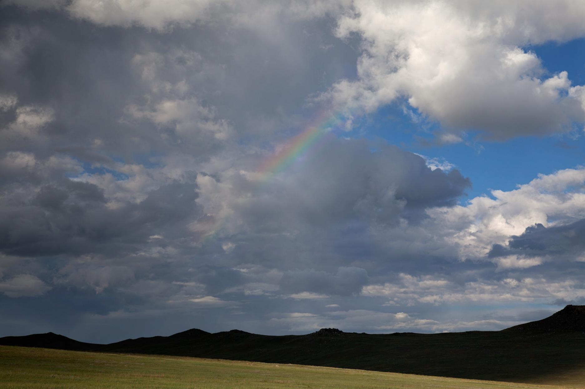rainbow over Gobi Desert, Mongolia