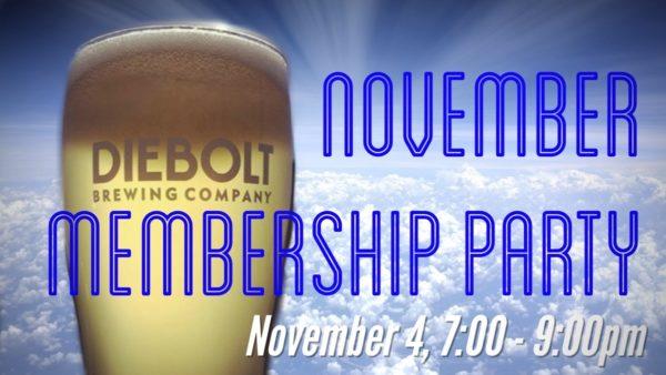 November membership party graphic