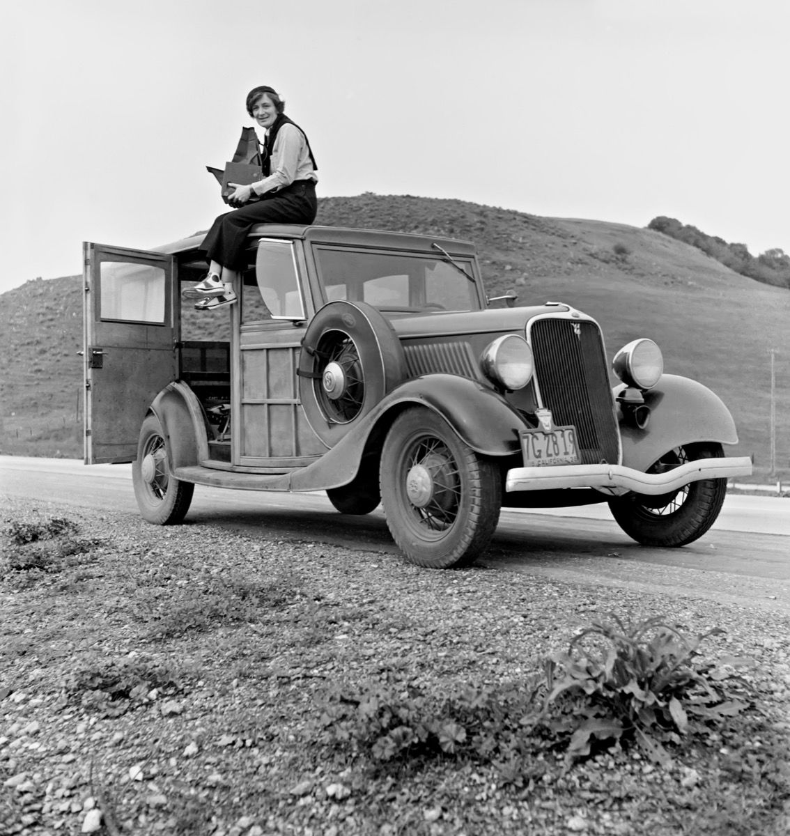 Photo of Dorothea Lange in California