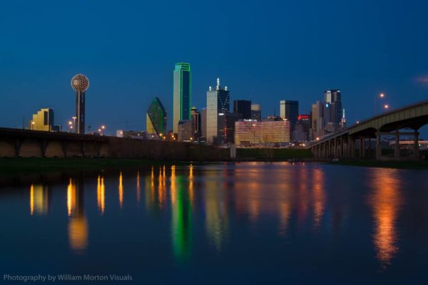Dallas Texas skyline by William Morton