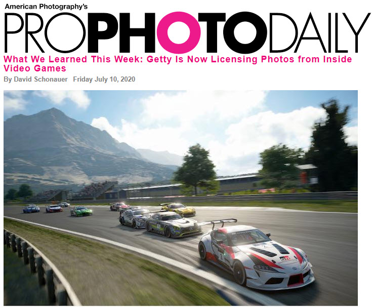 Screenshot of article posted at ProPhotoDaily