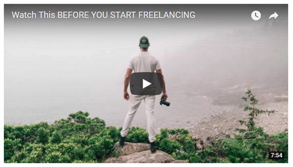 Screenshot of freelancing article posted at Fstoppers
