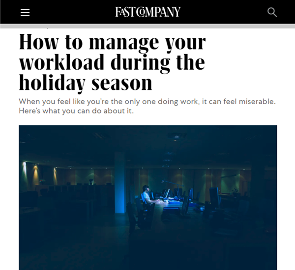 Screenshot of article posted at Fast Company