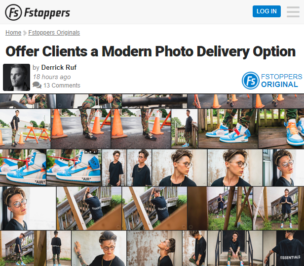 Screenshot of article posted at Fstoppers