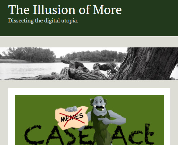 screenshot of article posted at Illusion of More