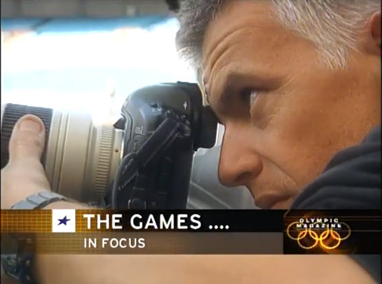 Screenshot of video posted on Olympic Magazine web site