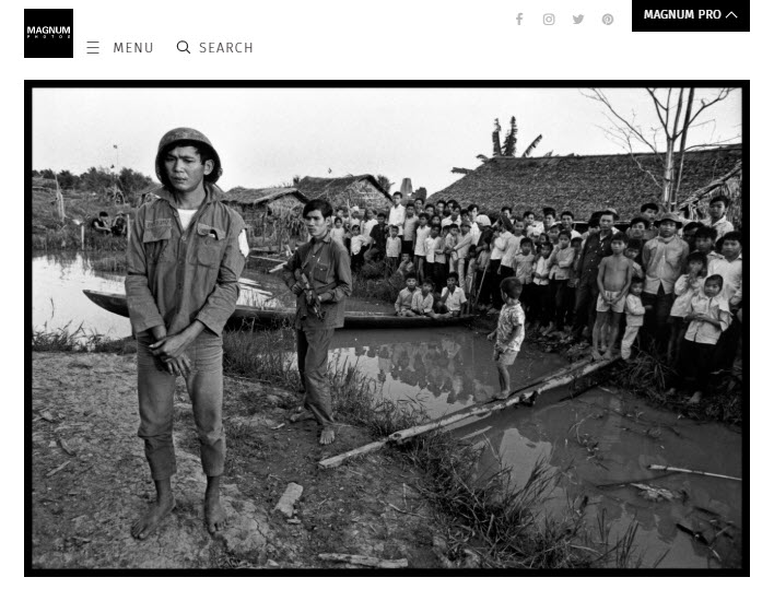 Screenshot of article posted on Magnum Photos