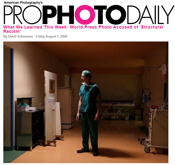 Screenshot of article posted on Pro Photo Daily
