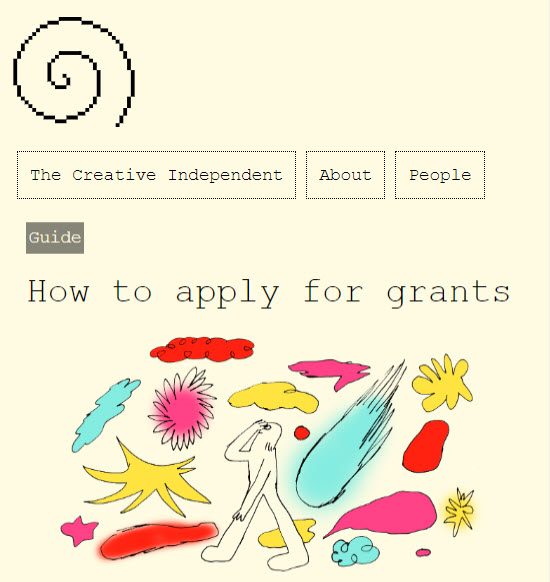Screenshot of article posted on The Creative Independent