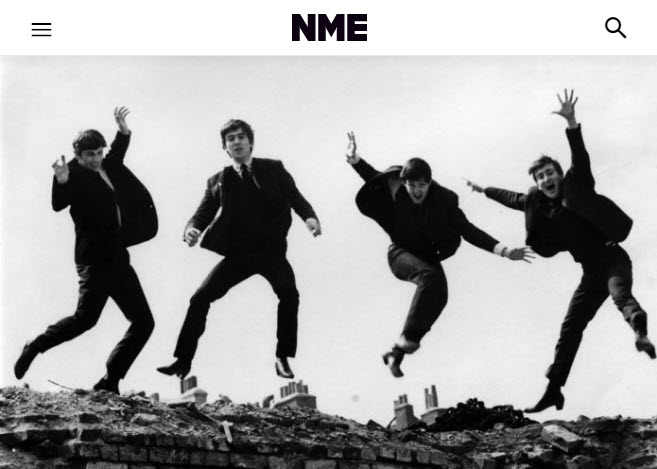 Screenshot of article posted on NME