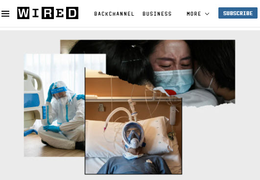 Screenshot of article posted on Wired