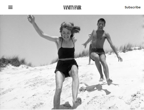 Screenshot of article about Richard Avedon posted on Vanity Fair