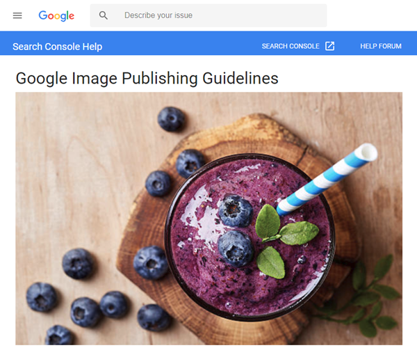 Screesnot of article posted at Google Image
