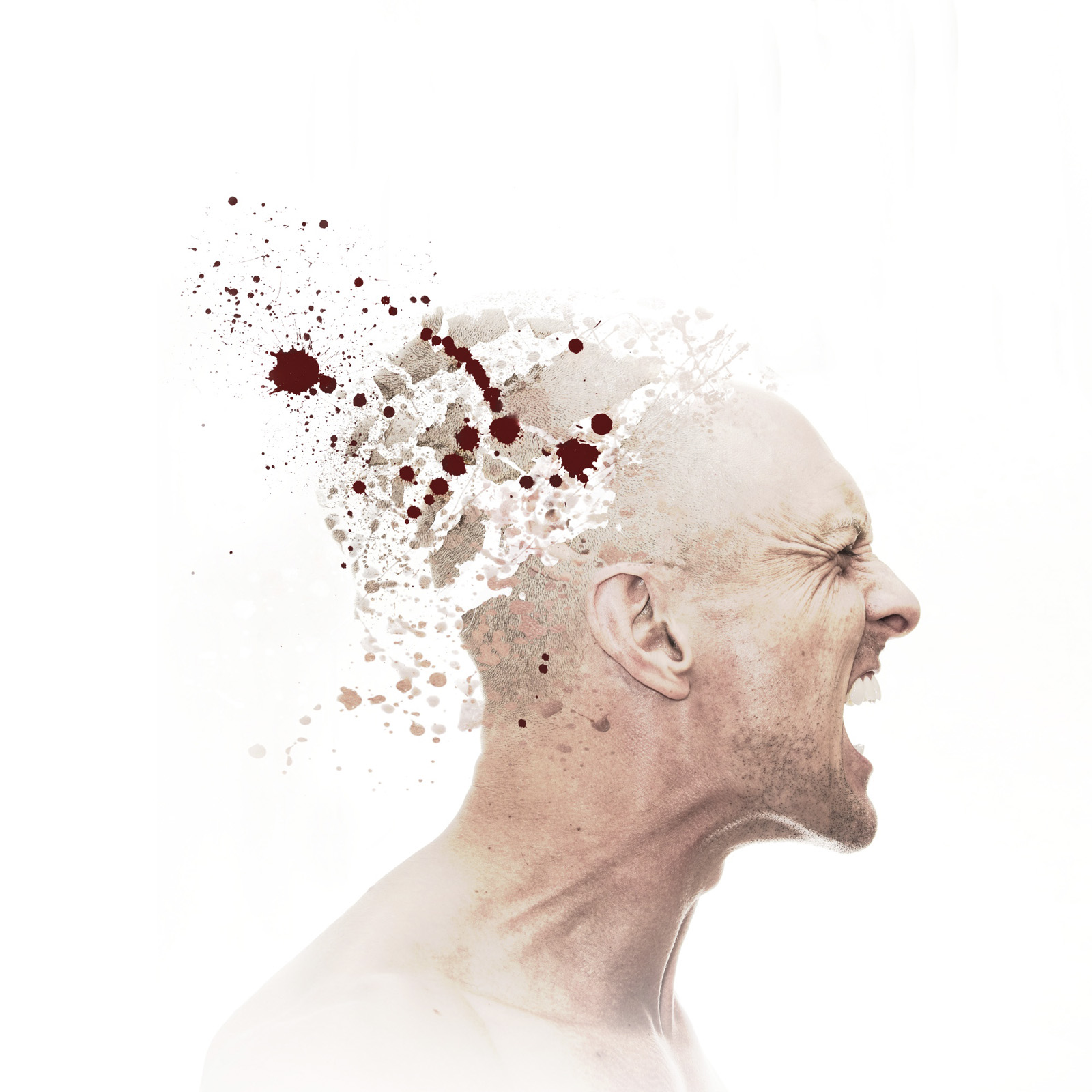 Frustration, Anger, male, caucasian, head, exploding