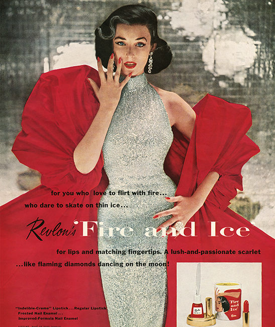 Magazine ad for Revlon shot by Richard Avedon