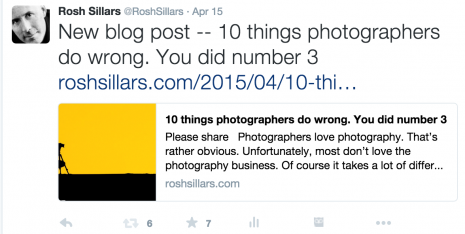 Twitter 10 things photographers do wrong