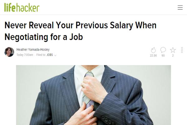 screenshot of article at Lifehacker