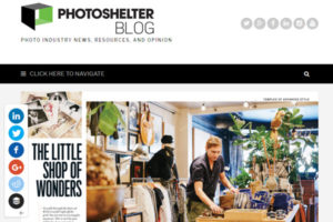 screenshot from article about photo editors from PhotoShelter Blog