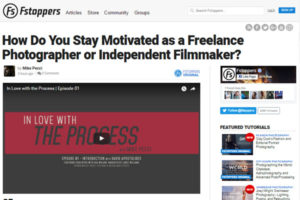 screenshot of staying motivated article at Fstoppers