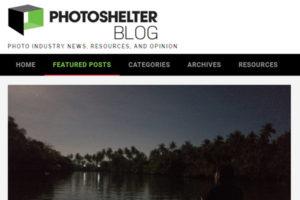 screenshot of article at PhotoShelter Blog
