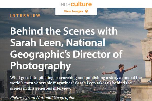 screenshot of Sarad Leen interview at LensCulture