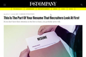 this is the part of your resume that recruiters look at first asmp