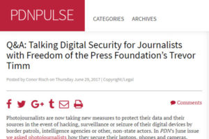 Screenshot of digital security article posted on PDNPulse