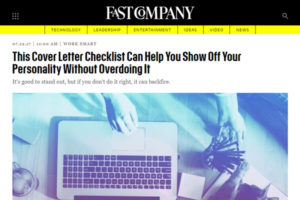 Screenshot of Cover Leter article at Fast Company