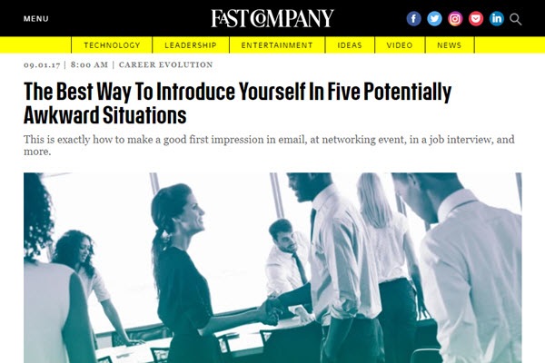 Screenshot of Michae; Grothaus article posted on Fast Company