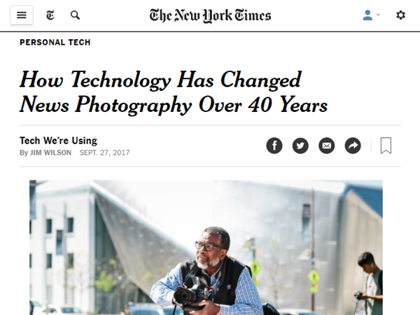 Screenshot of article by Jim Willis posted at The New York Times