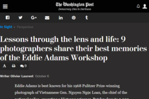Screenshot of article on Eddie Adams Worskshop alumni from The Washington POst