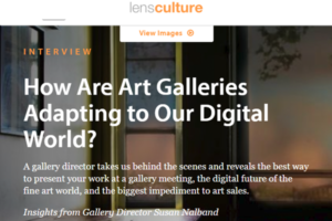Screenshot of Interview with Susan Nalband posted at LensCulture