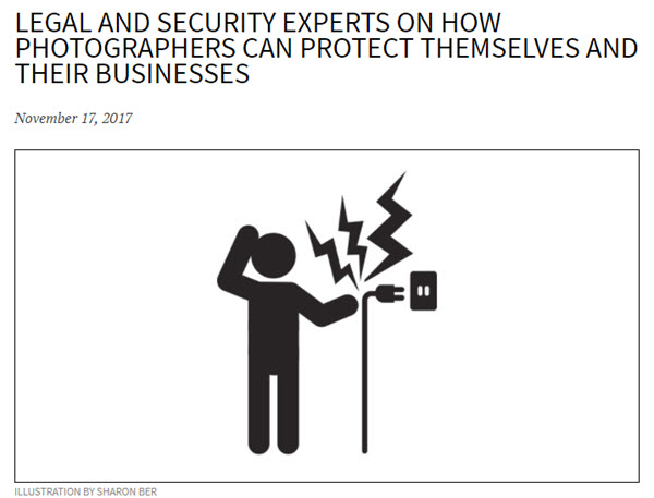 Screenshot of legal and security article posted at PDN Online