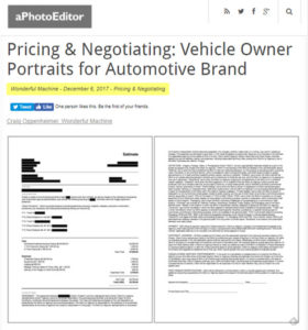 screenshot of pricing article posted on aPhotoEditor