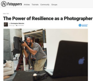 Screenshot of article bt Christopher Malcom posted at Fstoppers