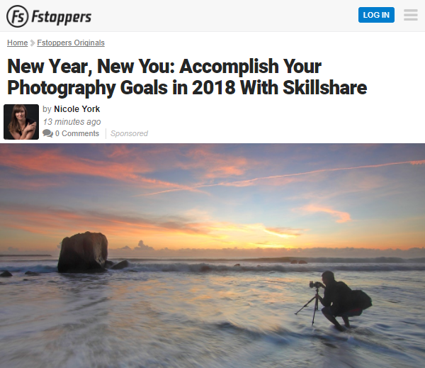 Article about Skillshare posted on Fstoppers