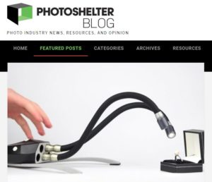 screenshot of camera gear story posted on PhotoShelter Blog
