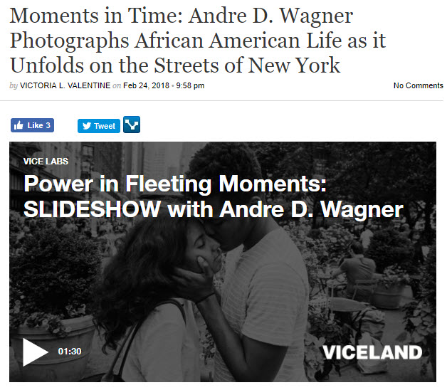 screenshot of article on Andre D Wagner posted on Viceland