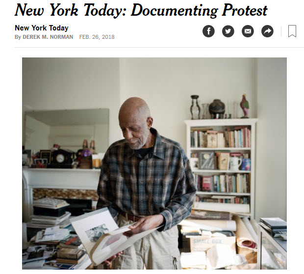 screenshot of artivle on documenting protests posted on The New York Times