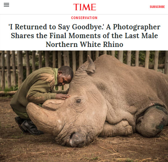 Screenshot of article by Ami Vitale posted at TIME Magazine