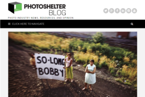 Screenshot of article on Paul Fusco posted on PhotoShelter Blog