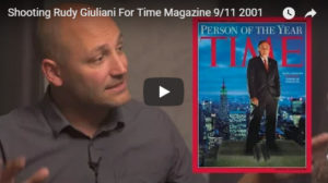 Screenshot of video on Rudy Giuliani's cover of Time magazine