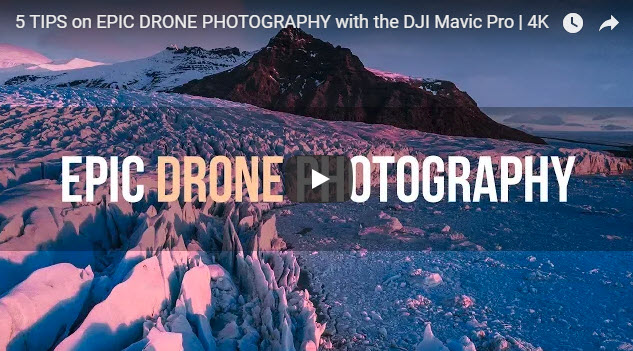 Screenshot of article on drone photography posted in Imaging Resource News