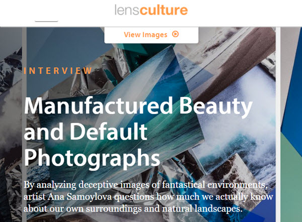 Screenshot of article posted on LensCulture