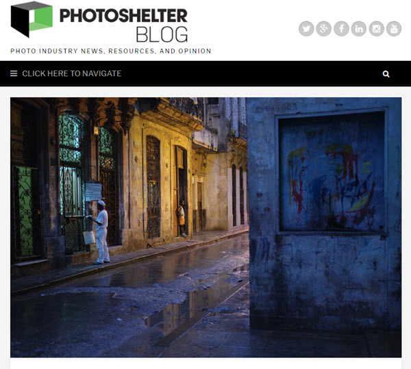 Screenshot of David Hobby interview posted on PhotoShelter Blog