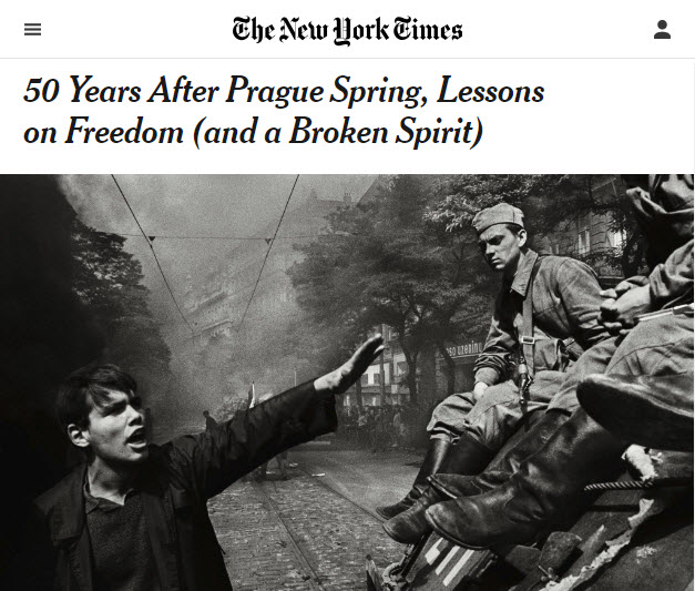 Screenshot of article posted on the New York Times web site.